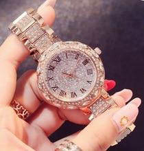 Designer Brand Luxury Women Watches Dropshipping New 2019 Hot Selling Gold Diamond Watch Gifts for Quartz Rhinestone