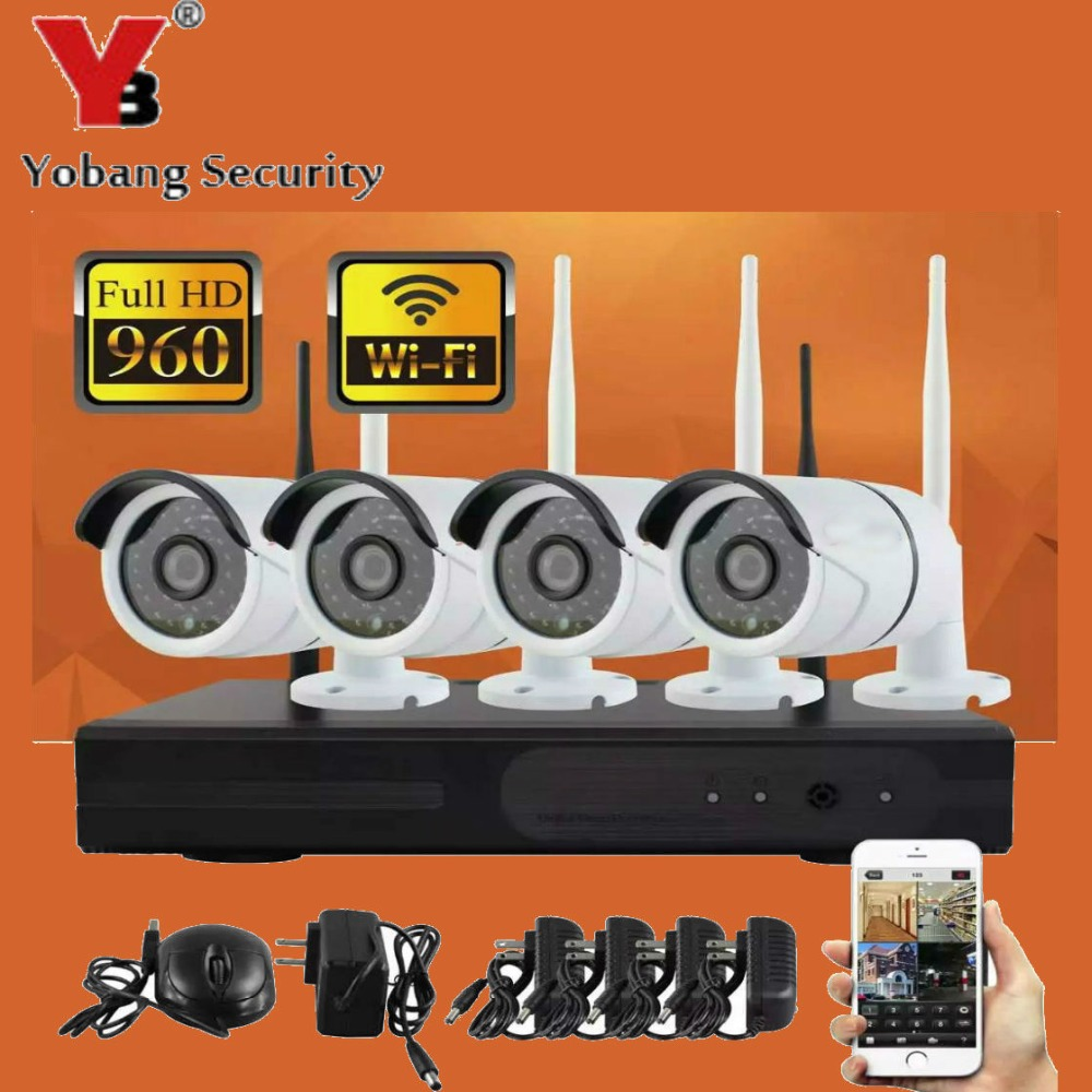 960P Wireless CCTV System 4ch Wifi NVR Powerful Wireless NVR IP Camera Bullet CCTV Camera Home