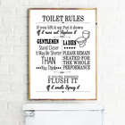 Toilet Rules Wall Ar...