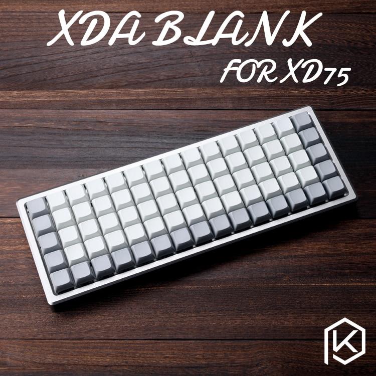 XDA Blank Keycaps Xd75re Xd75 Keyset Blank Similar To DSA For MX Mechanical Keyboard Ergo Filco Leopold Cosair Noppoo Planck