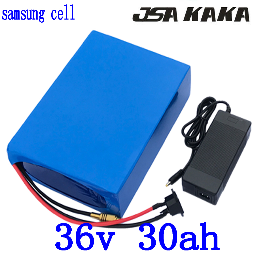1000W 36V electric bike battery 36V 30AH Lithium battery use samsung cell 36V 30AH ebike battery with 30A BMS 42V 5A charger