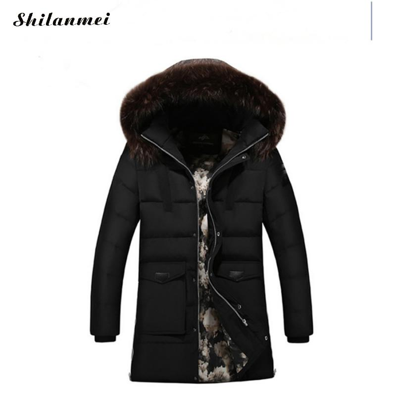 M-6XL Big Size Winter Warm Hiking Down For Men Windproof Softshell Fleece Jackets With Detachable Hat Mid-Long Camping Coat
