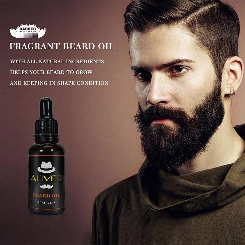 Beard Balm Natural Oil Conditioner Beard Care Moustache Wax Men Moustache Grooming Gentlemen's Beard care set YF2018 4