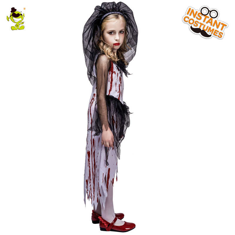 91945f135047 ... New Kids Halloween Horror Bloody Bride Party Costumes Ghost Bride  Cosplay Costume Girls Blood Dress masquerade ...