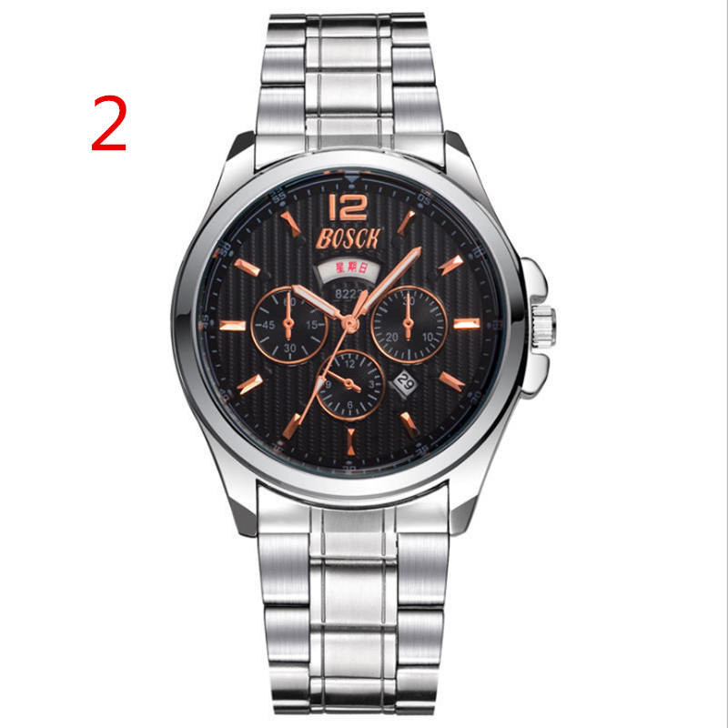 zou's leisure business quartz watch.6Men's mechanical watch automatic fashion tide 2018 new simple tungsten steel waterproof