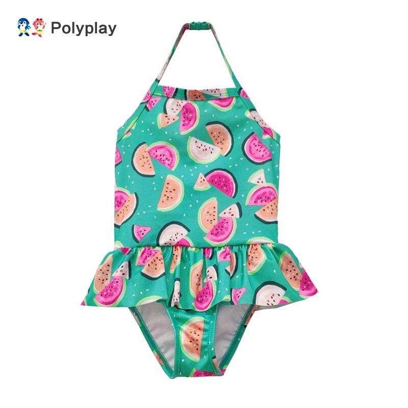 Bonito estilo melancia maiô de uma peça para meninas 1-2-3-4-5 anos de idade