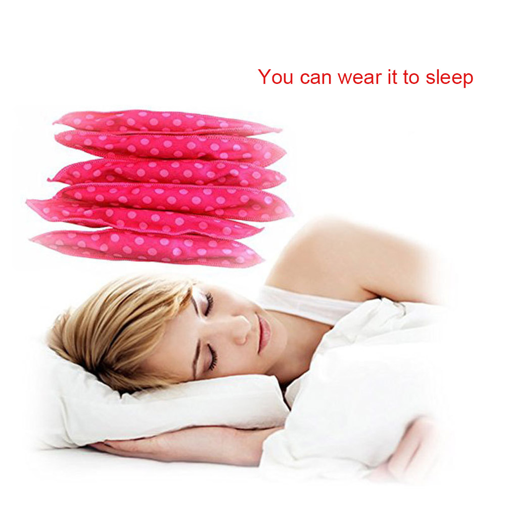 20 Pcs Cloth Hair Curlers Dots No Heat Sleeping Sponge Curls Roller for Long Short Thick Thin Hairs YF2018