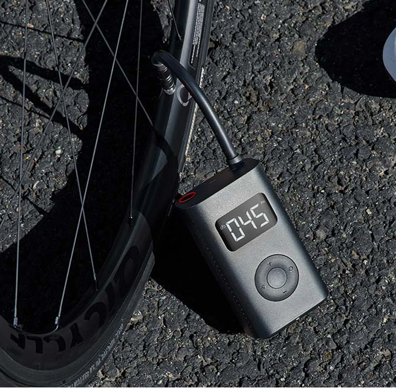 In-Stock Xiaomi Mijia Portable Smart Digital Tire Pressure Detection Electric Inflator Pump for Bike Motorcycle Car Football image