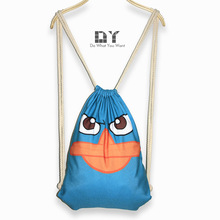 DY aliexpress shoulders Drawstring Bag Blue funny stamp Ms. Perry the platypus beam single shoulder bag