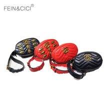 fanny Pack women waist bag belt bags luxury brand fashion rivets lion beetles leather velvet red black blue pink 2018 summer new