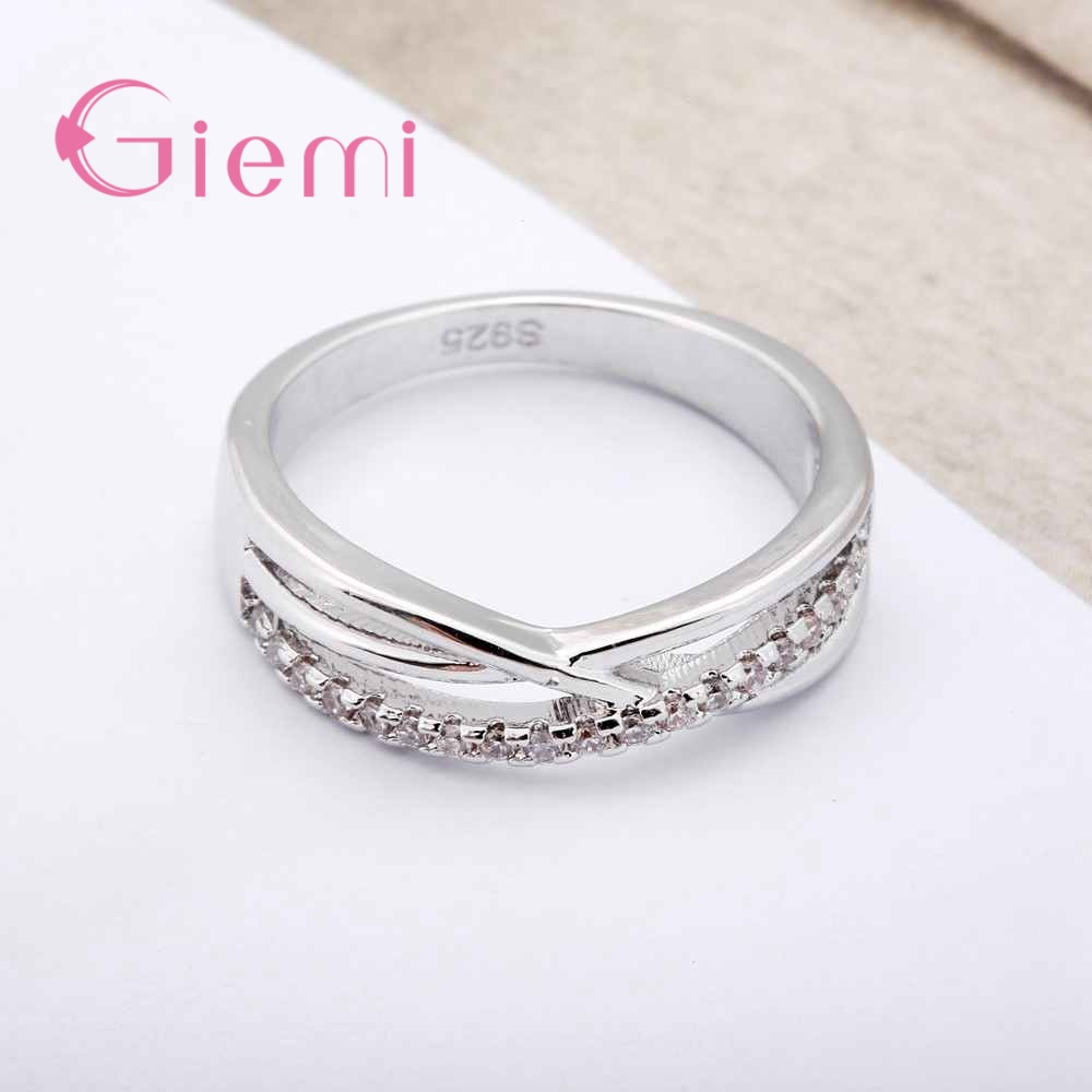Cubic Zirconia Rings For Women Filled Crystal Type Trendy Fashion 925 Sterling Silver Rings Jewelry Bijouterie Wholesale 3