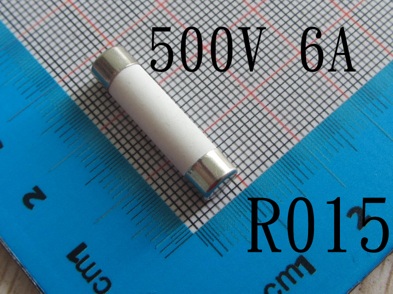 Free Shipping With Tracking Number 100pcs High Quality R015 500V Ceramic Fuse 6A 500V 10*38mm