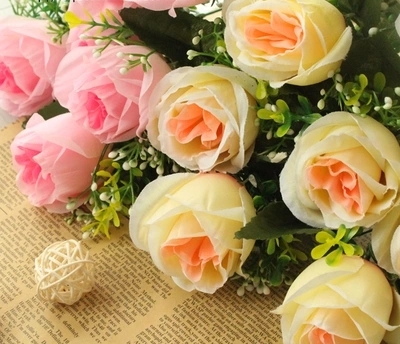 silk rose flower korea style rose wedding and home decomration fashiong party decorative flower free shipping
