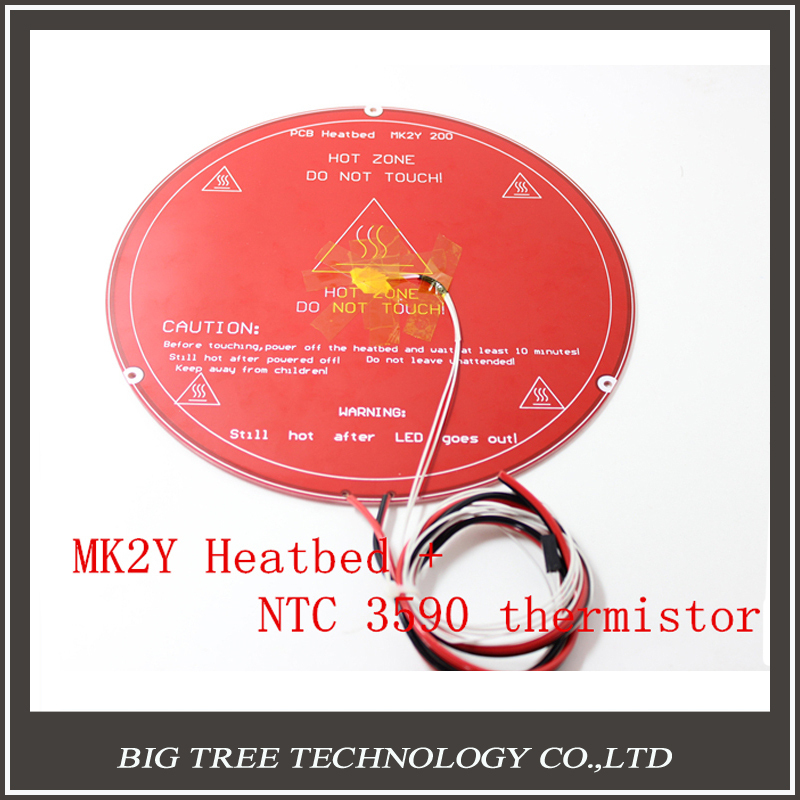 RepRap 3D Printer Parts MK2Y PCB Heated bed Cable NTC Thermistors with Aluminium DuPont headers