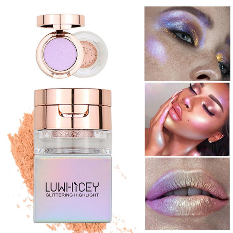 Repairing Concealer High-gloss Pressed Powder Double-layer High-gloss Shadow Facial Makeup Product Easy To Apply