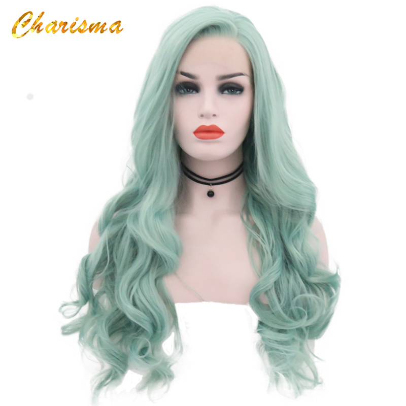 Charisma Body Wave Synthetic Wigs Heat Resistant Lace Front Cosplay Wigs 24'' Combs Inside With Natural Hairline Wigs For Women