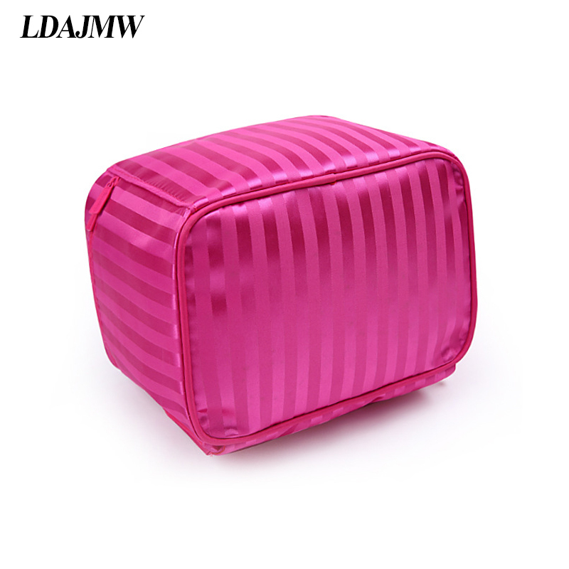 Image 2 - LDAJMW New Arrivals Foldable Cosmetic Bag Makeup Tool Storage Bag Travel Organizer Large Capacity Toiletry Bag-in Storage Bags from Home & Garden