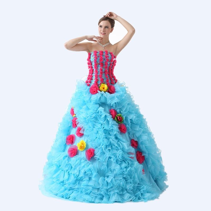 Gorgeous Dress Sweet 16 Dresses Plus Size Beading Flowers Masquerade ...