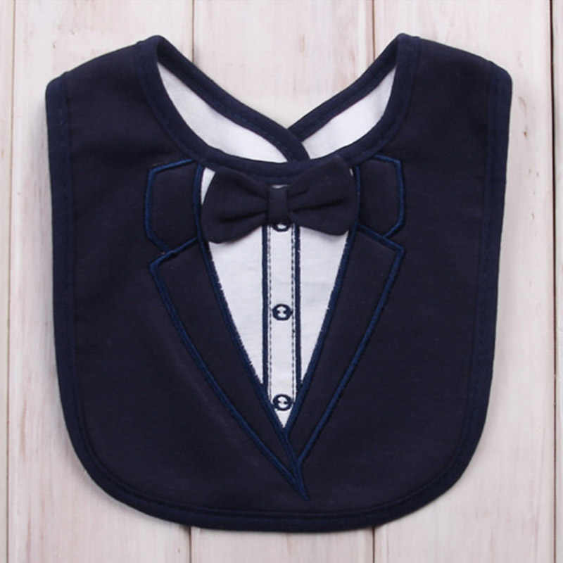 8863a40ff7ad Detail Feedback Questions about Fahion 3 layers waterproof baby bib  gentleman funny bibs boys girls towel cartoon tuxedo bibs Newborn Dinner  Feeding Bib on ...