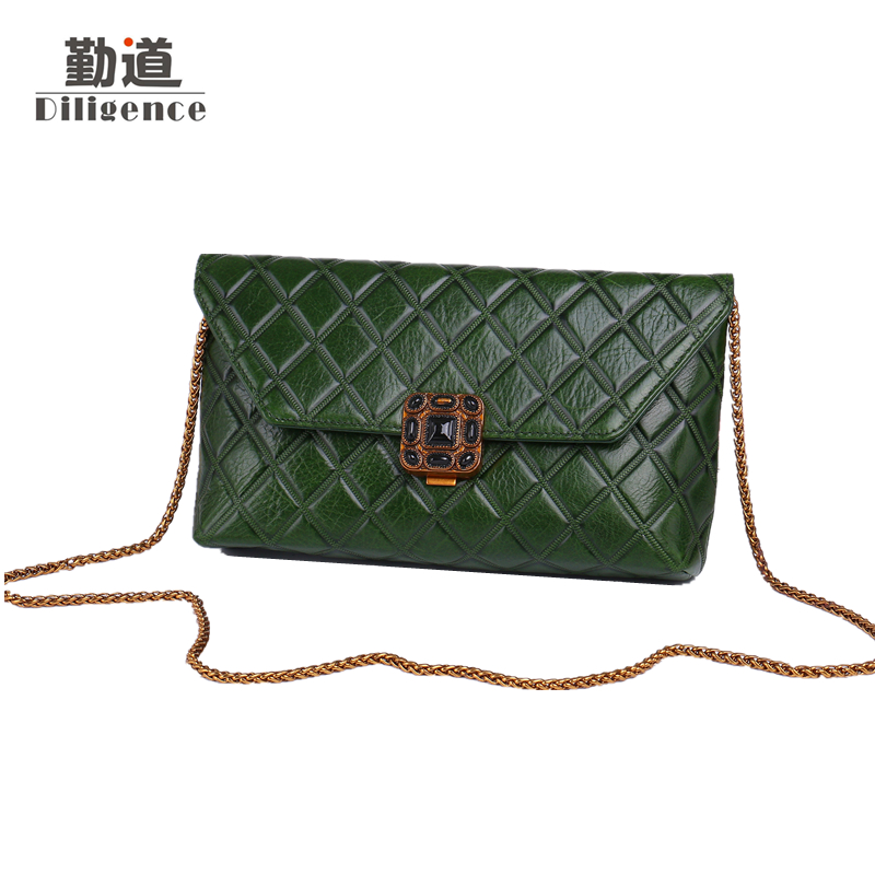 Mini Vintage Chains Genuine Leather Shoulder Bags For Women Fashion Famous Luxury Brands Designer Style Crossbody Messenger Bag chains genuine leather shoulder bags vintage for women famous luxury brands designer style crossbody messenger bag