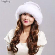 Factory outlet Lady s the new mink fur mink hat knit cap children winter thickening warm