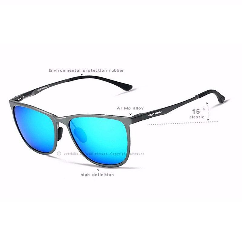 Image 5 - Мужские солнцезащитные ретро очки VEITHDIA, винтажные очки из алюминиево магниевого сплава с поляризационными стеклами, модель 6623, 2019accessories broochaccessories featheraccessories bar  АлиЭкспресс