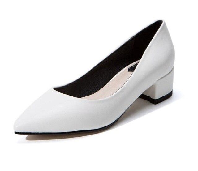 7284788f0 € 43.6 |2017 printemps/automne chaussures femme dames chaussures blanc noir  femmes chaussures épais talon femmes chaussures grandes tailles de 11 ...