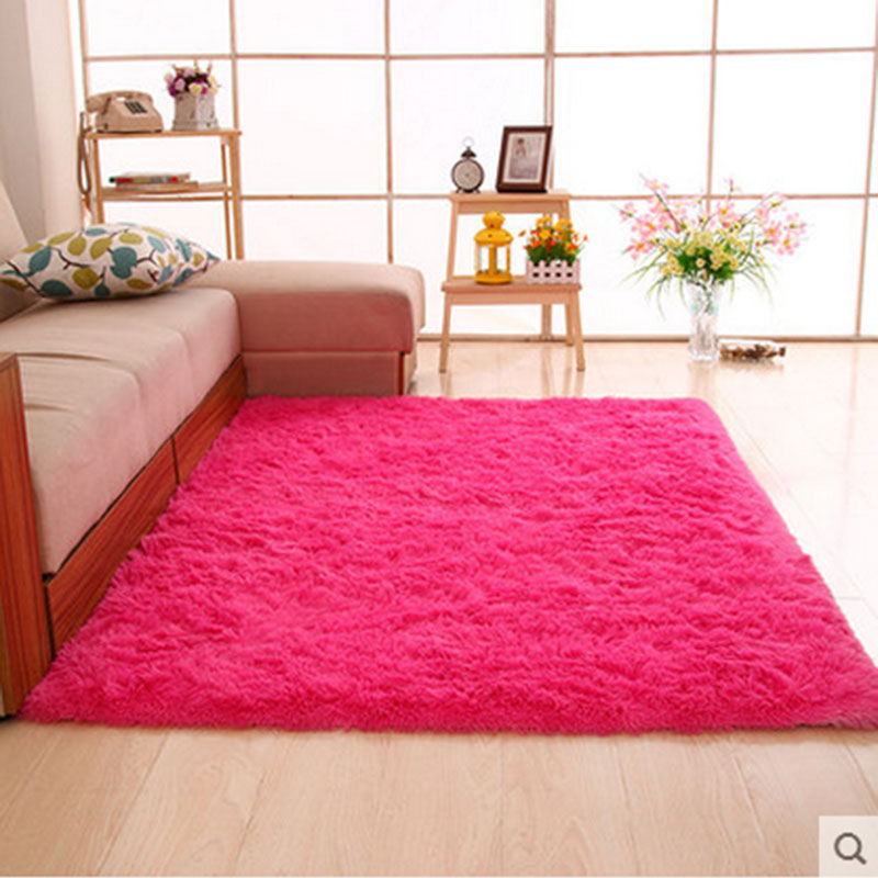Thick hair washed silk simple modern living room bedroom bedside ...