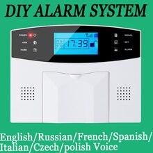 Wireless/wired Phone SIM GSM Home Burglar Security GSM Alarm System English Russian Spansih Czech Voice Prompt Alarm Sensor kit