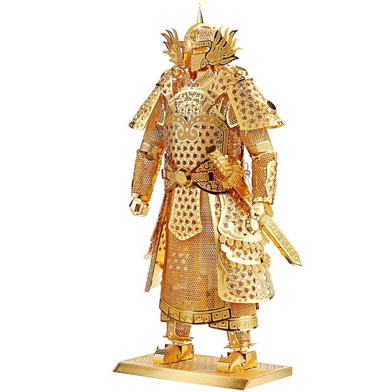 Wmx Kids Adult Toys 3d Construction Figures Model Puzzle General Samurai Warriors Armor For