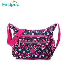 Findpop Casual Women Messenger Bags Ladies Floral Single Shoulder Bags Nylon Small Messenger Crossbody Bags 2017 New Fashion
