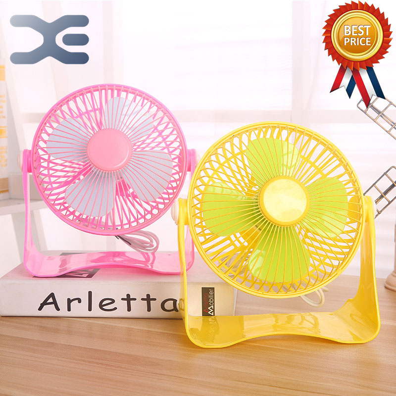 4 Colors Desk Fan Four Blade USB Portable Fan Plastic PC Fan Low Noise Summer Energy Saving Low Carbon Mini Wentylator xiaomi vh fan stylish double blade mute cycle desktop silent fan low noise touch sensor switch and second gear adjustable