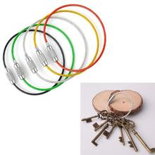 5 Colors Steel Wire Key Chain Rings Stainless Keychain Cable Rope Holder Keyring Llaveros Para Mujer Llavero