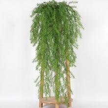 105 см Настоящее прикосновение искусственные настенные Висячие растения искусственные сосновые иголки украшение дома балкон украшение Цветочная корзина