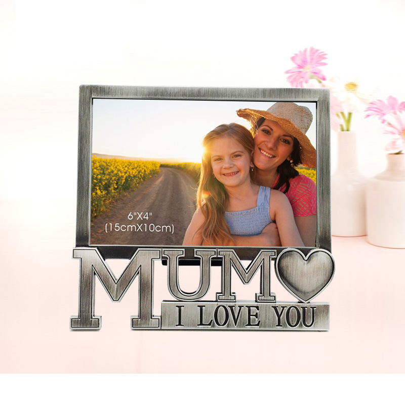 Fashion Vintage Metal Photo frame for Mom Lovely DIY Rectangle ...
