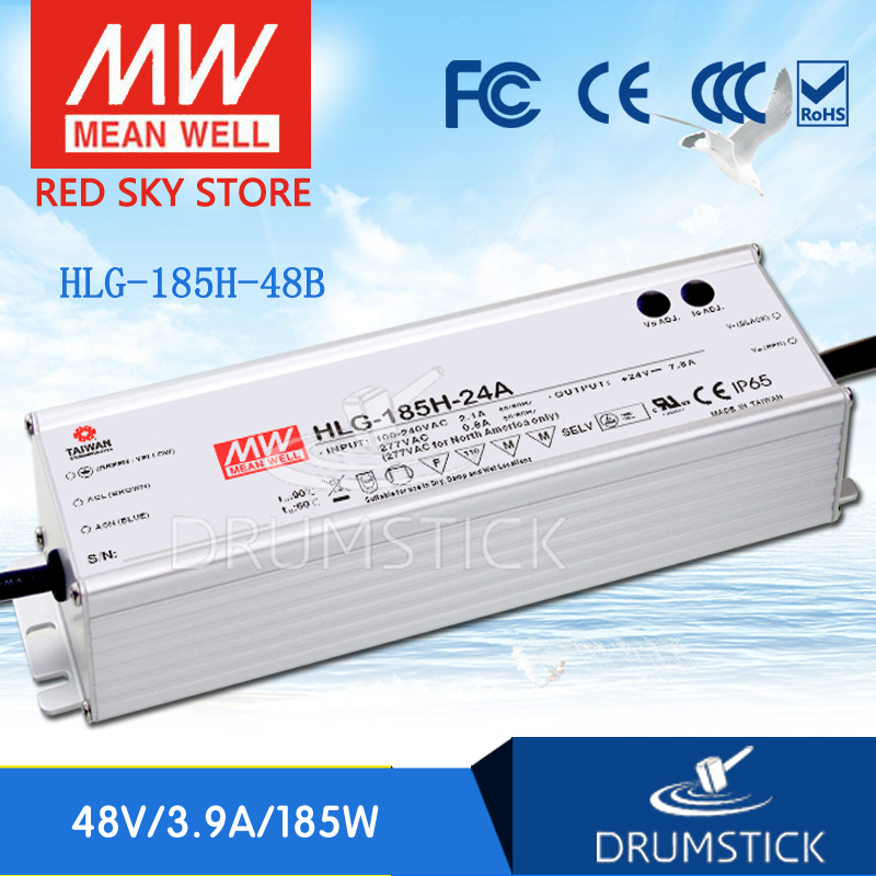цена на Advantages MEAN WELL HLG-185H-48B 48V 3.9A meanwell HLG-185H 48V `187.2W Single Output LED Driver Power Supply B type