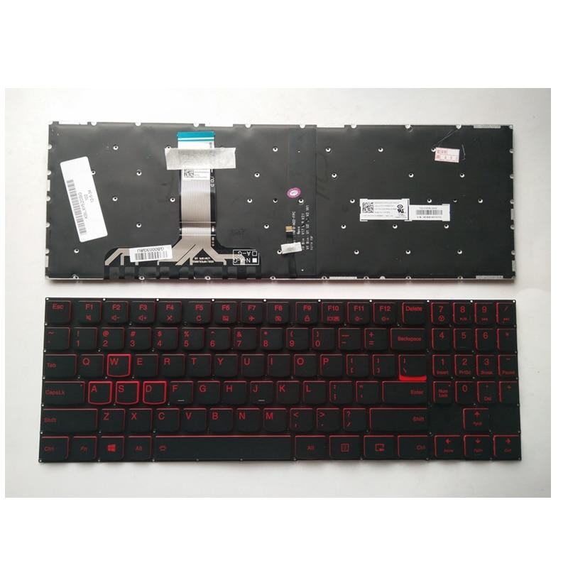 US Laptop Keyboard For Lenovo For Legion Y520 Y720 R720-15IKB Black New English With backlight
