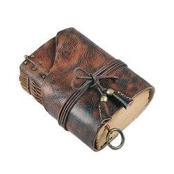 100% de cuero genuino hecho a mano A4 A5 A6 Retro, cuaderno de viaje Retro, libreta cuaderno diario, regalo de cumpleaños y Día de San Valentín BJB26