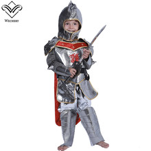 Wechery Boys Fairy Tail Cosplay Silver Knight Costume Kids Children Halloween Dress Up Holiday Top Pants Helmet Costumes