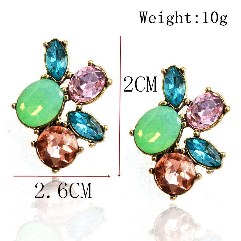 New 2016colorful Trendy women stud Earrings gorgeous Cute jewelry fashion elegant earring hot sale free shipping (4)
