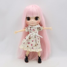 Factory Middie Blythe Doll Pink Hair Jointed Body 20cm