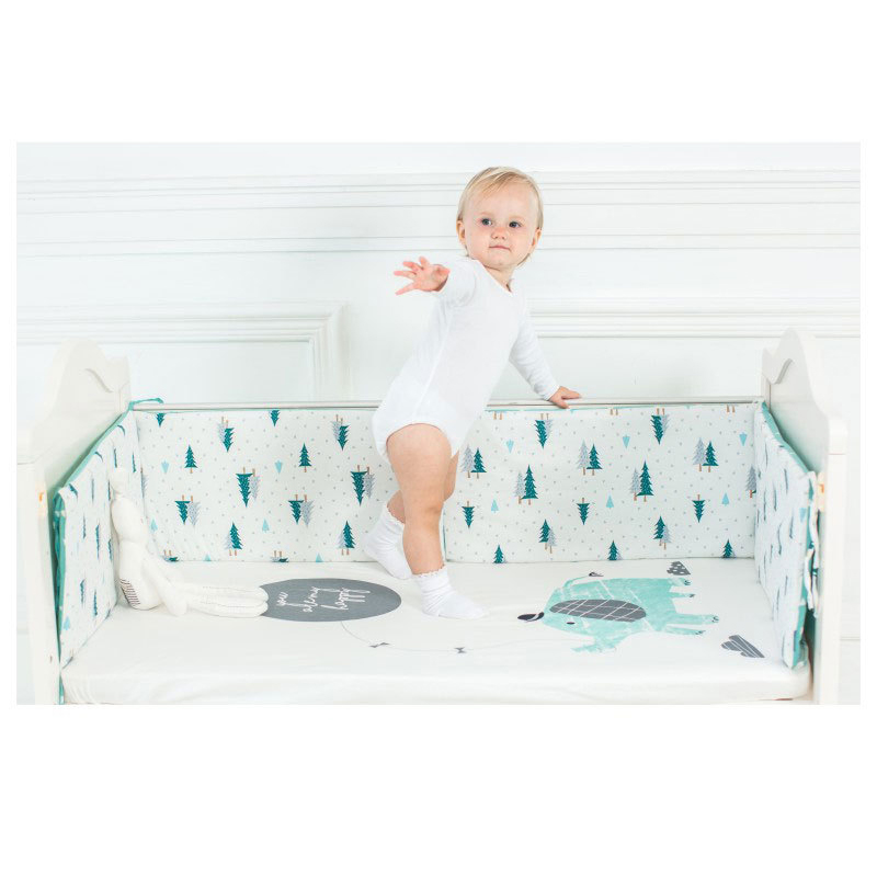 100% Cotton Crib Bed Sheet Adjustable Baby Bed Soft Cover Protector Newborn Cartoon Bedding For Crib Mattress Size 130 * 70cm