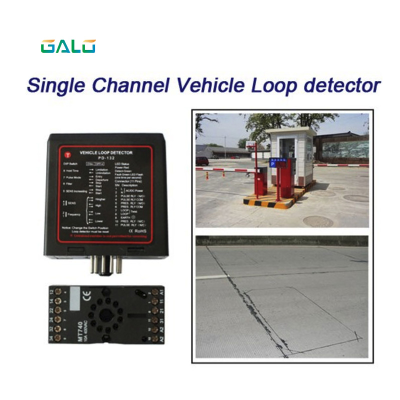 GALO single channel inductive vehicle loop detector controller module for BFT CAME NICE barrier gate opener motor lpsecurity 100m cable single channel inductive vehicle loop detector for mightymule faac bft came nice gate barrier operators
