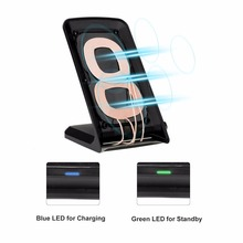 Wireless Charger Portable Folding Charging Stand Universal qi Wireless Charger for Samsung s8 s7 Wireless Charging Pad Black