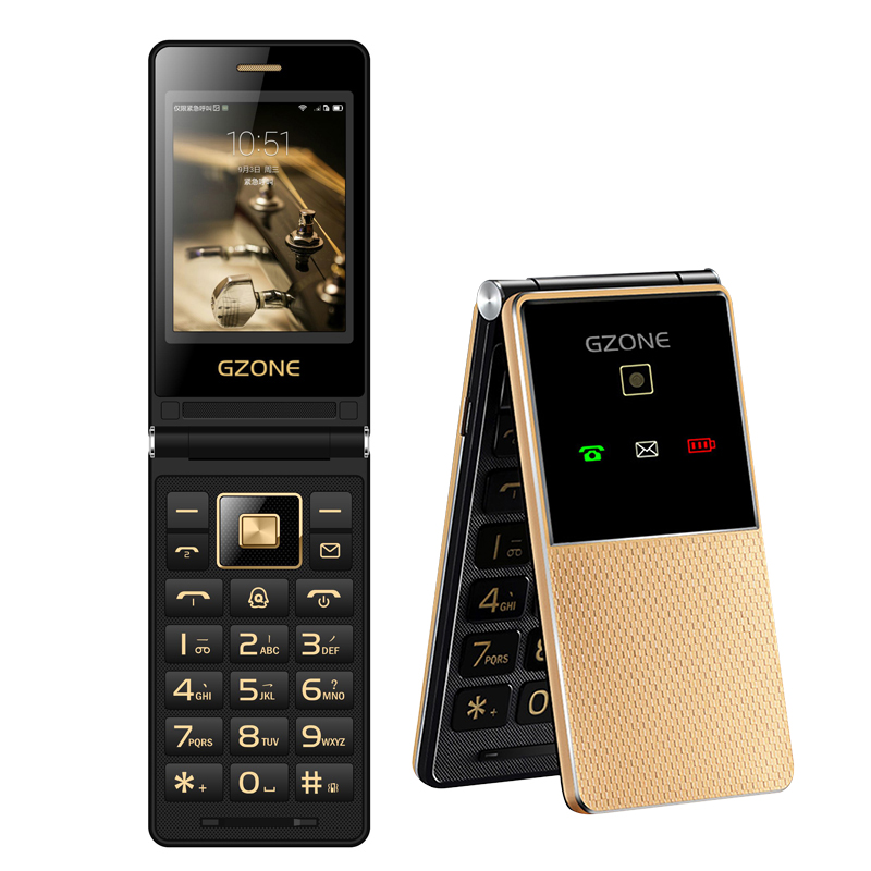Unlock 2G Touch Display Handwriting Flip Mobile Phone Extra Slim Light Quick Dial Big Russian Key Black List For Elderly