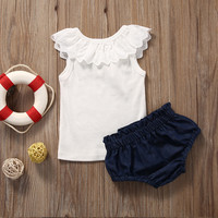 2pcs Newborn Kids Toddler Infant Baby Girl Clothes T Shirt Tops Pants Baby Girl Clothes