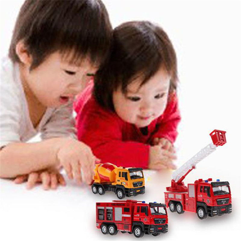 Toys & Hobbies Brilliant New Arrive 1pc 1:55 Sliding Alloy Car Truck Model Children Toys Fire Engine For Baby Chirstmas Birthday Gift Sa885970 High Standard In Quality And Hygiene