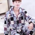 Franela invierno XL trajes de Ocio de Los Hombres de manga larga de servicio a domicilio