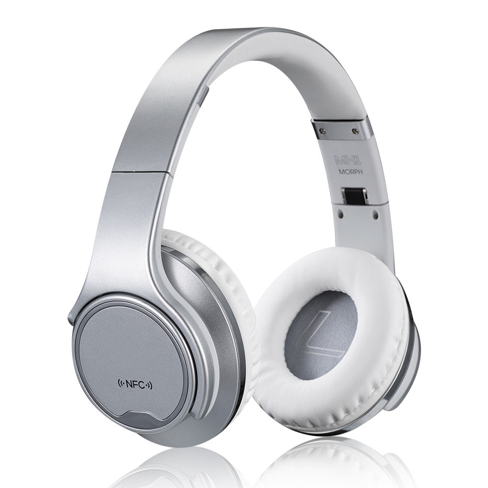 Foldable Headset MH1 2in1 Twist-out Speaker Bluetooth Headphone With FM Radio  Headband Wireless Headset With NFC flashing lights twist out speaker bluetooth headphone with fm radio aux tf card mp3 sports magic headband wireless headset