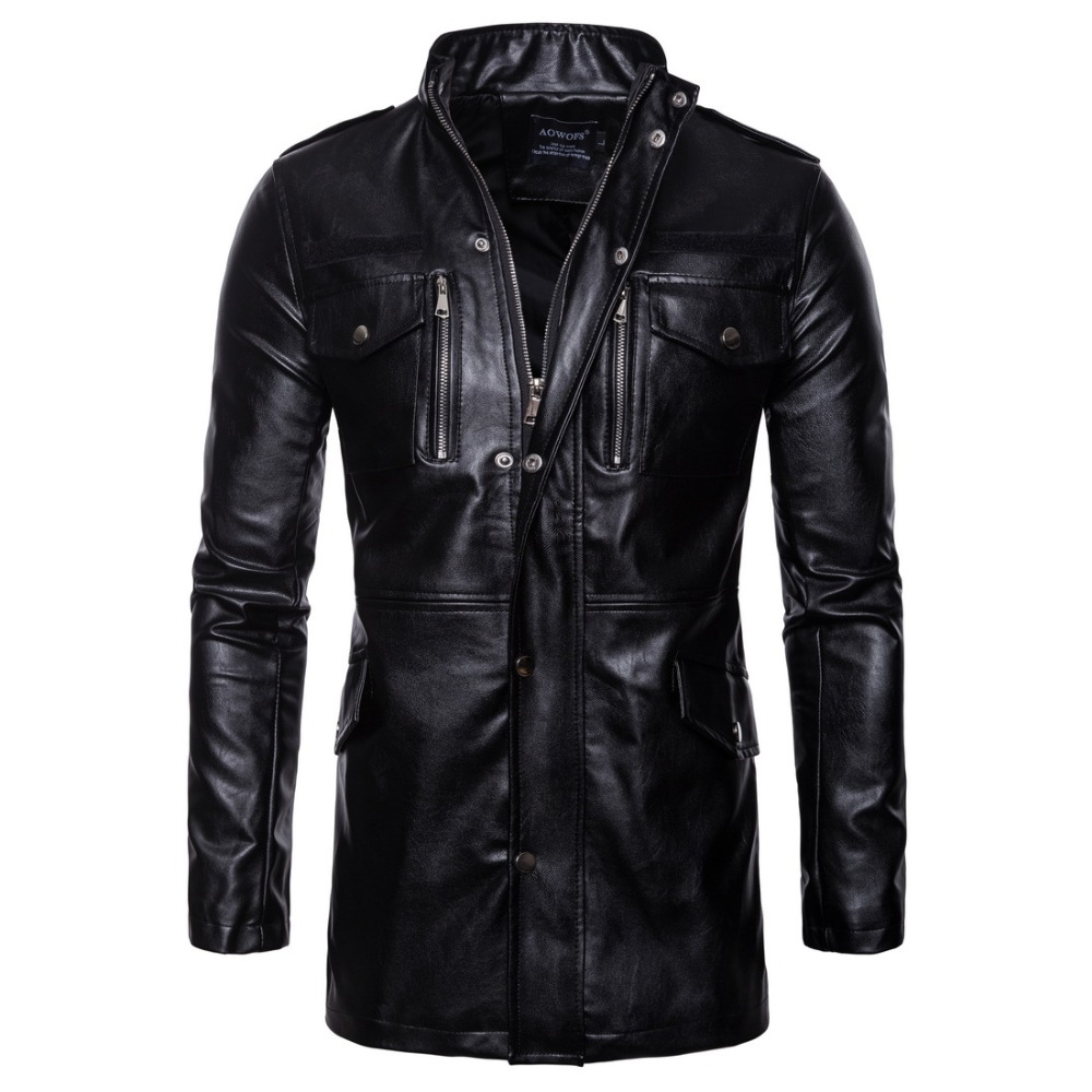 Retro Classic Motorcycle Jacket Men Pigskin Moto Jacket Motorcycle Clothing Biker Coats Windproof Jacket M-5XL